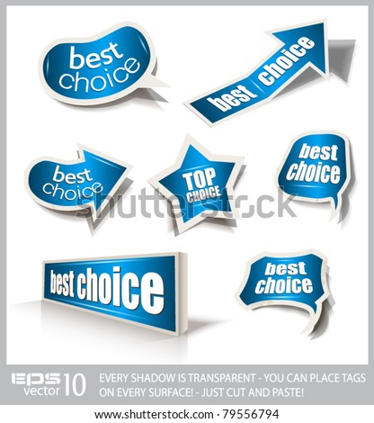 Premium collection of design speech bubbles with different shapes. Shadows are transparent, ready to copy and paste everywhere.