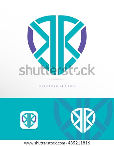 PREMIUM DESIGN , ABSTRACT, DYNAMIC SHIELD VECTOR LOGO / ICON , IN CORPORATE COLORS - stock vector