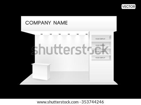 premium exhibition trade show booth design - stock vector