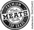 Premium Meats Butcher Shop Stamp