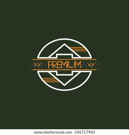 premium modern insignia - stock vector