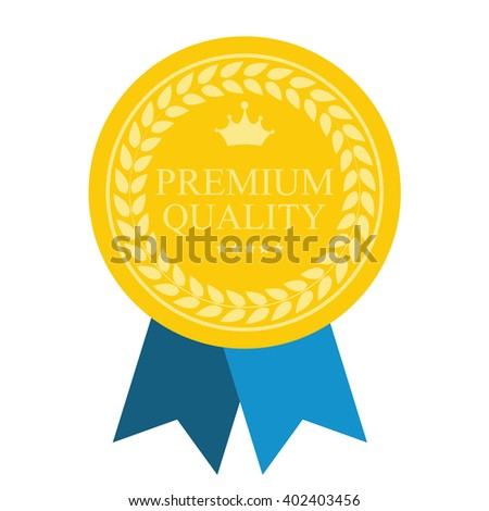 Premium Quality Art Flat Medal Icon Template for Web. - stock vector