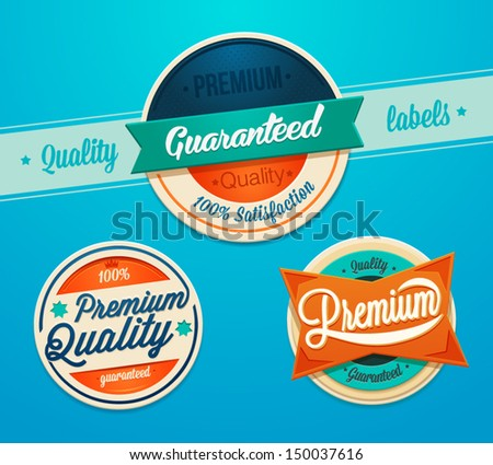 Premium quality badges - stock vector