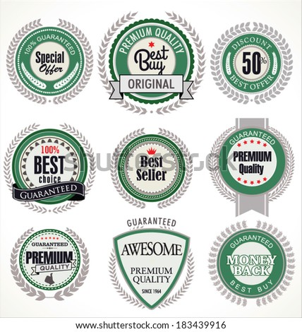 Premium quality badges and labels - stock vector