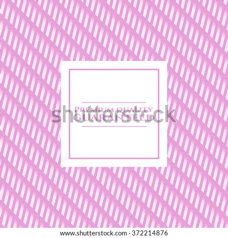 Premium Quality Guaranteed banner or card - stock vector