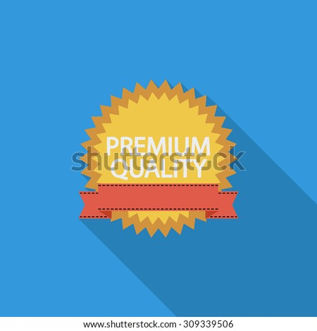 Premium Quality icon. Flat vector related icon with long shadow for web and mobile applications. It can be used as - logo, pictogram, icon, infographic element. Vector Illustration. - stock vector