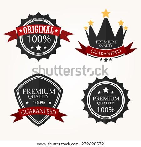 Premium Quality Label sets - stock vector
