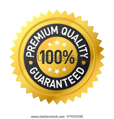 Premium quality label. Vector. - stock vector