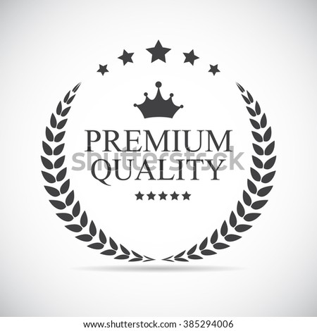 Premium Quality Label Vector Illustration EPS10 - stock vector