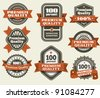 Premium Quality Labels - stock vector