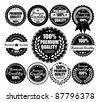 Premium Quality Labels Collection - eleven design elements with retro vintage design - stock vector