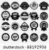Premium Quality Labels Collection WIth Retro Vintage Design - stock vector