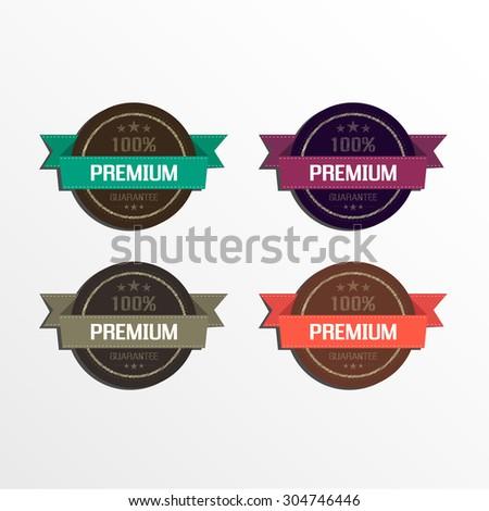 Premium quality labels vector design - stock vector