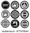Premium Quality Labels with retro design - stock vector