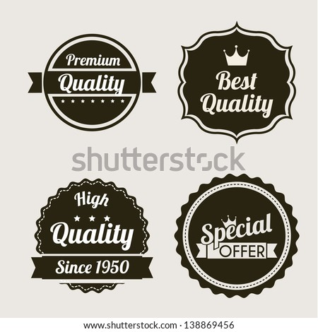 premium quality over beige background. vector illustration - stock vector