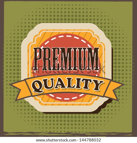 premium quality over green background vector illustration