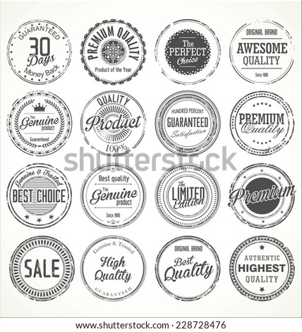 Premium Quality Vector collection - stock vector
