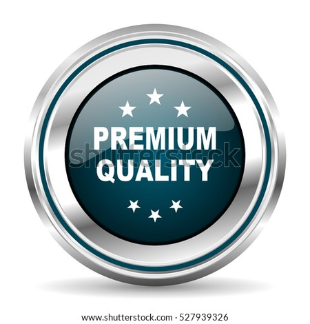 Premium quality vector icon. Chrome border round web button. Silver metallic pushbutton.