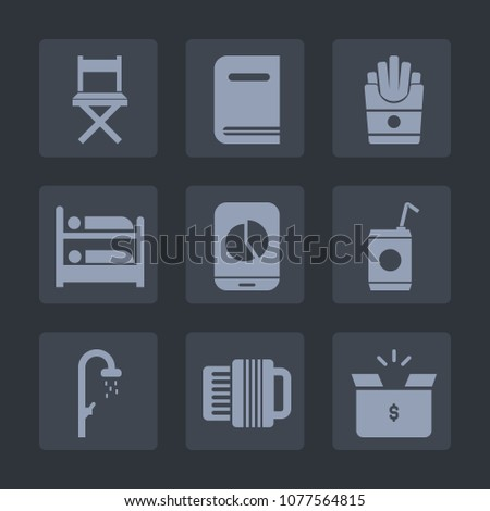 Premium Set Fill Icons Such Water Stock Vector Royalty Free