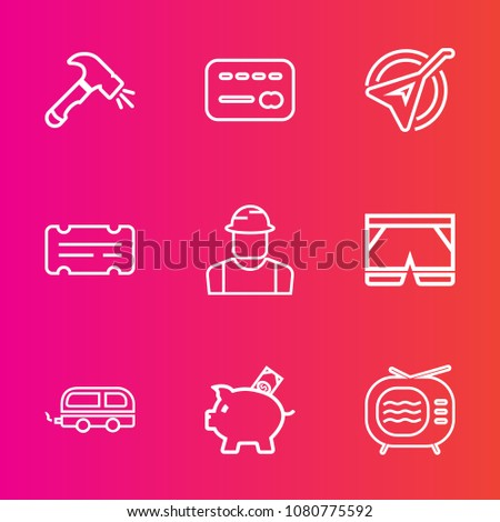 Premium Set Outline Vector Icons Such Stock Vector 1080775592