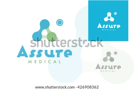 PREMIUM VECTOR LOGO / ICON DESIGN : ABSTRACT MOLECULAR STRUCTURE , POSSIBLY SHAPING THE MONOGRAM A  - stock vector