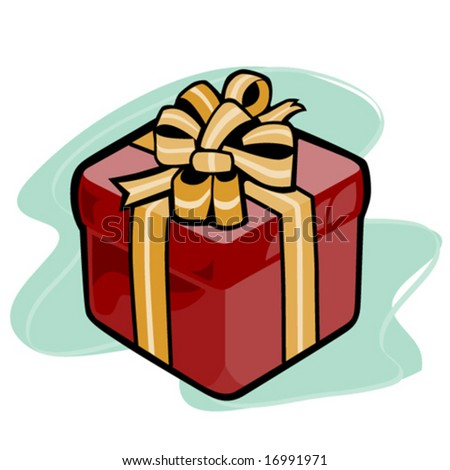Present tied in a bow - stock vector