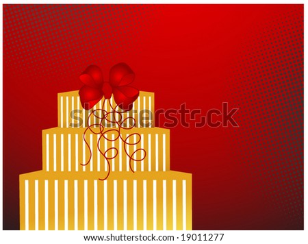 present with bow and ribbon