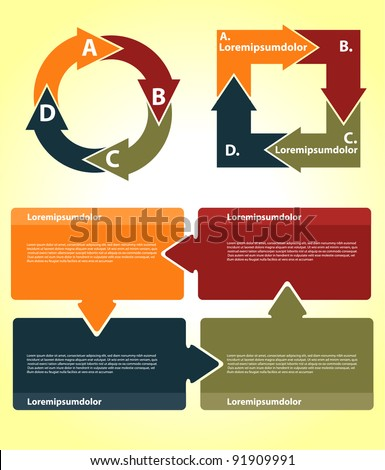 Presentation and Reports. - stock vector