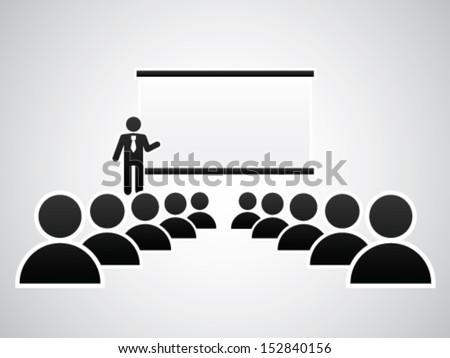 Presentation - Blank - stock vector