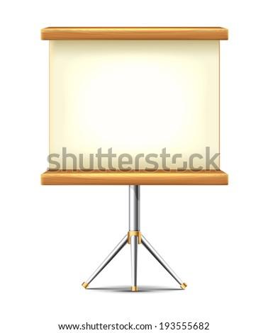 Presentation Board - stock vector