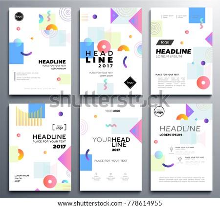Presentation Booklet Cover Vector Template A 4 Stock Vector (2018 ...