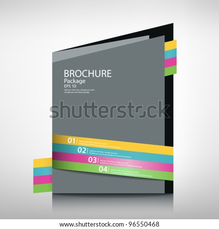 Presentation brochure templates package design, vector illustration - stock vector