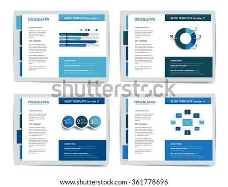 Presentation business templates. Infographics for leaflet, poster, slide, magazine, book, brochure, website, print. - stock vector