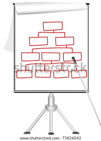 presentation Flip chart on tripod - stock vector