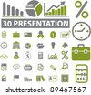 presentation icons set, vector illustrations - stock vector