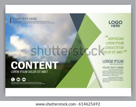 Presentation Layout Design Template Annual Report Stock Vector - Presentation cover page template