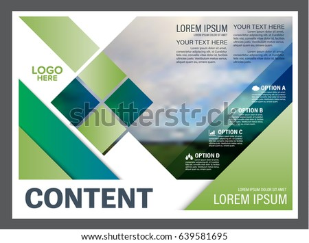 Presentation Layout Design Template. Annual Report Cover Page. Landscape  Nature Background. Illustration Vector  Annual Report Cover Page Template