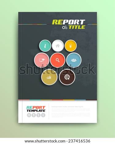 Presentation of brochure cover design template., vector illustration. Magazine, flyer, and report cover layout design. - stock vector