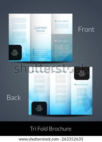 elegant brochure templates - presentation elegant tri fold brochure design stock vector