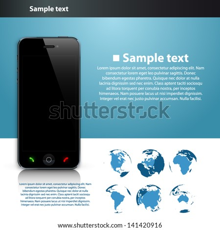 Presentation of the global number - stock vector