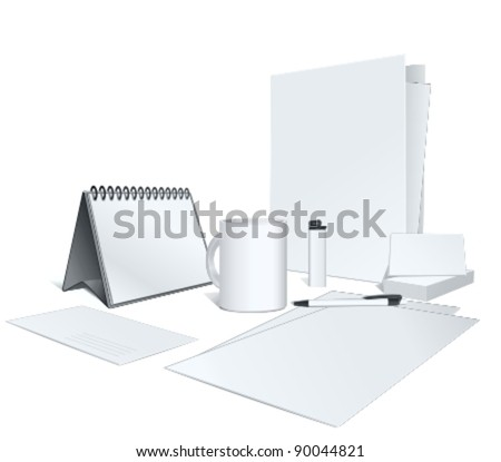 presentation of your corporate identity design. Vector illustration - stock vector