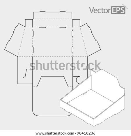 Presentation Stand Box - stock vector