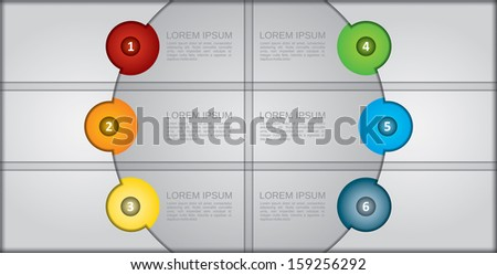 Presentation template with design element and copy space area - stock vector