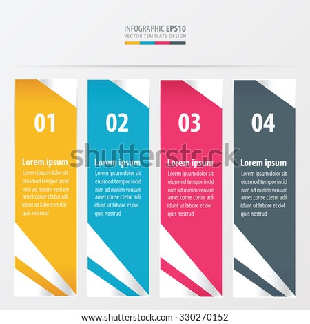 presentation template  yellow, blue, pink color