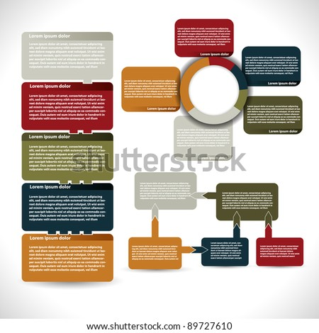 Presentations and reports - stock vector