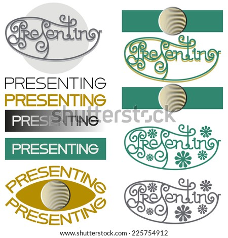 Presenting Design study of the word in different ways. Vector illustration. - stock vector