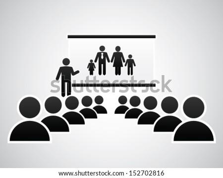 Presenting Mini Family - stock vector