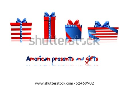 Presents and gifts to american celebrates. To see more presents please visit my portfolio.