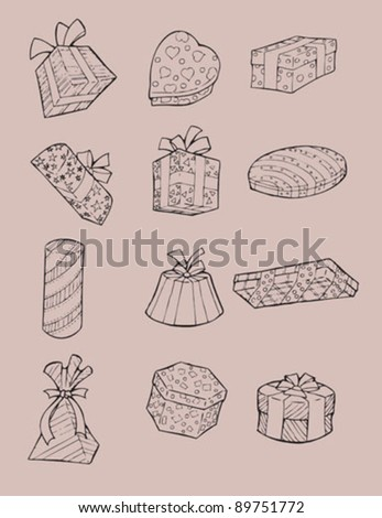 Presents Vector set of some presents and gifts - stock vector