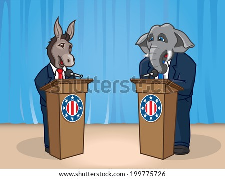 Presidential Debate - stock vector
